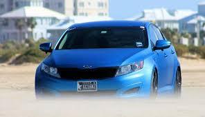 Kia Optima Interior Colors Tuning U0026 Accessories Kia Optima In Matte Blue Color Kia News Blog