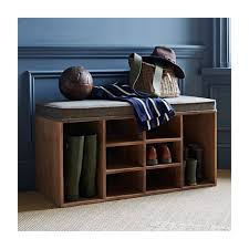 Boot Bench by Shoe Bench Storage With Doors How To Build An Entryway Bench From