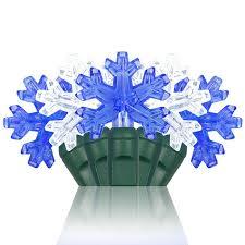 snowflake string of lights christmas decorating with lighted snowflakes christmas lights etc