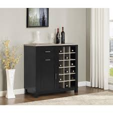 altra furniture carver black 18 bottle bar cabinet 5277296pcom
