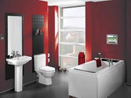 red bathroom color ideas bathroom small design in red and white