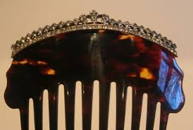 antique hair combs regal antique tortoise shell hair comb with paste stones crown
