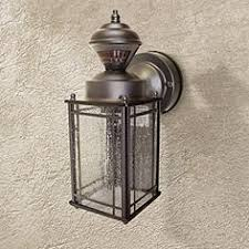 bronze motion sensor outdoor lighting lamps plus