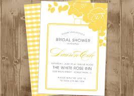 printable bridal shower invitations printable wedding bridal shower invitation in custard yellow