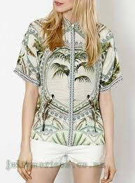 s shirts white green blue s shirt palm tree