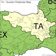 maps ta taunton postcode area and district maps in editable format