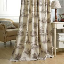 Country Curtains Country Curtains Beige Eiffel Tower Print Room Darkening Linen