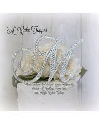 letter wedding cake toppers here s a great price on wedding cake topper letter m initial cake
