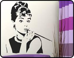 audrey hepburn wall decal vinyl sticker breakfast at zoom