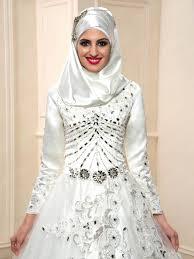 muslim wedding dress luxurious beading sleeves zipper up muslim wedding dress