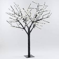 artificial white pre lit cherry blossom tree 8ft by kirklands
