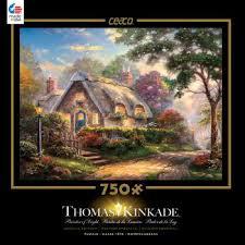 kinkade lovelight cottage 750 metallic puzzle by ceaco