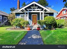 simple house exterior tile roof front stock photo 224227825