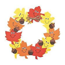 smile autumn leaves wreath craft kit wreaths crafts craft