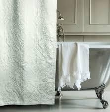 Luxury Shower Curtain White Cotton Matelasse Luxury Shower Curtain By Hotel Collection 100 Percent
