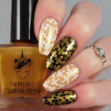 b nailed to perfection twinkled t stamping polish review