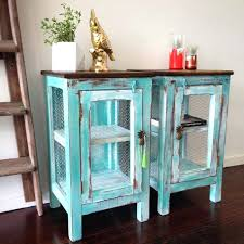 Chalk Paint Side Table Side Table Turquoise Side Table Ikea Turquoise Bedside Table