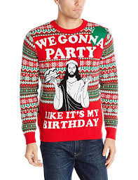 alex stevens men u0027s gonna party ugly christmas sweater red medium