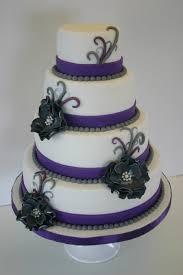 purple gray wedding cake white purple wedding cake cakecentral
