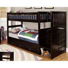Bunk Beds Espresso Mission Staircase Bunk Bed