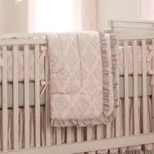 paris script crib bedding pink and gray baby crib bedding