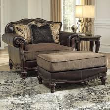 ashley furniture chair and ottoman signature design by ashley winnsboro durablend traditional chair and