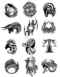 zodiac signs tribal tattoos jpg 1024 1303 zodiac signs