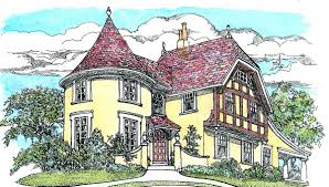 architecturaldesigns com turreted tudor cottage 11605gc architectural designs house plans