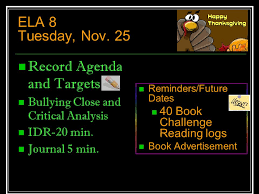 language arts agenda mrs petrovitch week of nov ppt