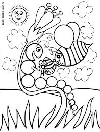 caterpillar printable kids coloring