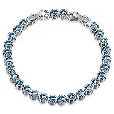 white swarovski crystal bracelet images Lady colour mothers day gifts for mom grandma mother jpg