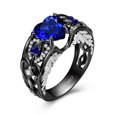 blue rings images Blue wedding ring black and blue engagement rings vancaro black jpg