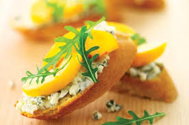 easy cheap canapes roquefort and bruschetta recipe goodtoknow