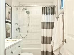 bathroom basket storage shower curtain gray white striped shower