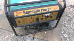 onan homesite 6500 generator sale video youtube