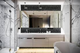 bathroom ideas frameless large bathroom mirror with mosaic
