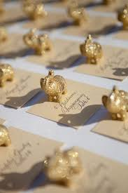 indian wedding favors from india gold elephant escortcards amaze mehndi wedding