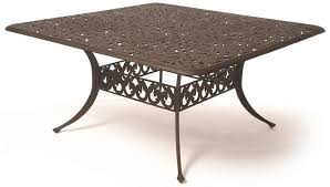 square dining table 60 chateau by hanamint luxury cast aluminum patio furniture 60 square