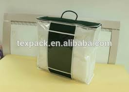 Duvet Bags Clear Pvc Plastic Zipper Bedding Packaging Duvet Cover Bags With
