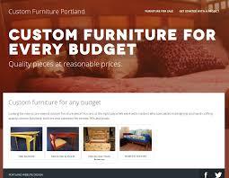 Portfolio Portland Website Design - Custom furniture portland
