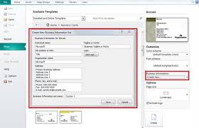 Creating Business Cards In Word How To Create Business Card In Microsoft Publisher Slidehunter Com