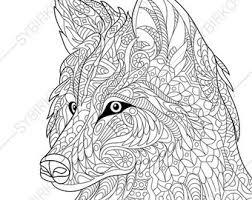 zentangle wolf etsy