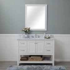 alya bath wilmington 48 in single bathroom vanity in white with