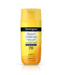 Tanning Oil With Spf Beach Defense Sunscreen Lotion Spf 70 Neutrogena