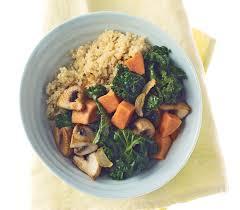Potatoes Main Dish - quinoa with mushrooms kale and sweet potatoes main dish
