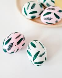 paper easter eggs diy tropical leaf easter eggs