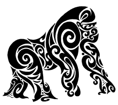 tribal stag tattoo black tribal gorilla tattoo stencil gorilla pinterest