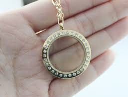5 pcs 30mm glass locket necklace photo locket necklace customize