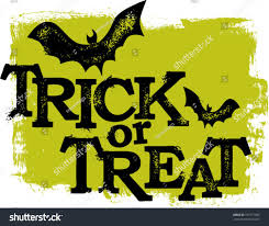 trick treat halloween text stock vector 109771892 shutterstock