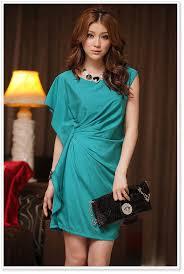 wholesale asian clothing jk ladies party dress k8418 cyan k8418